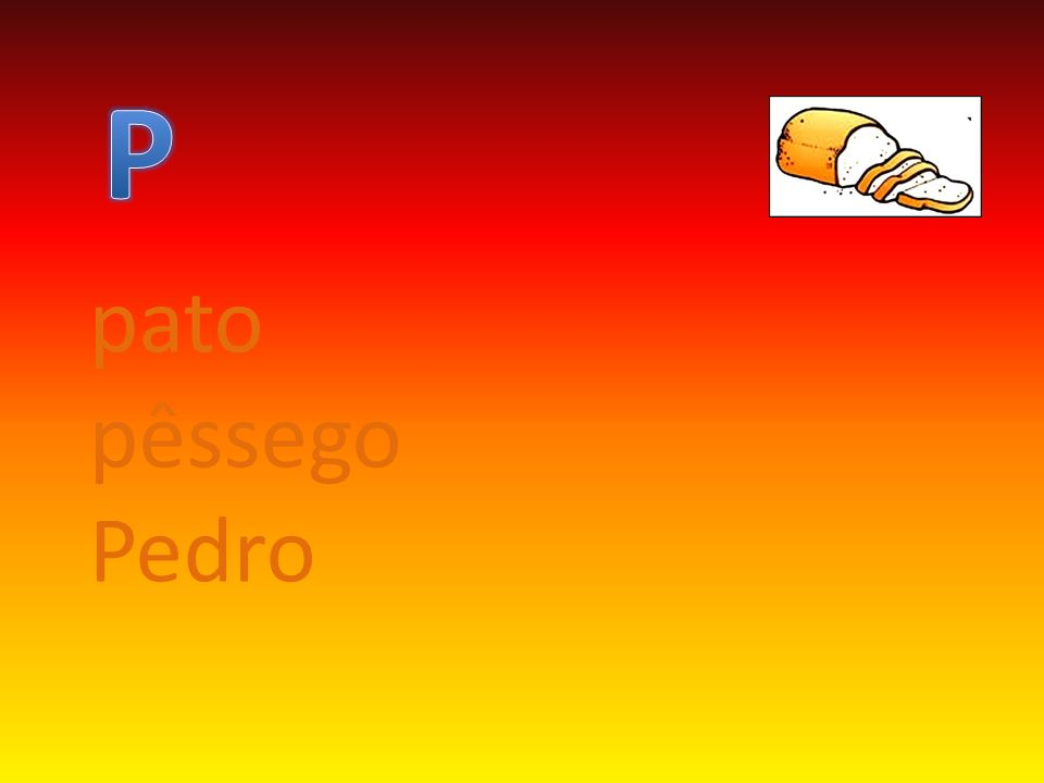 P pato pêssego Pedro