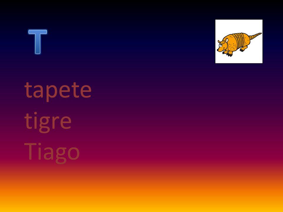 T tapete tigre Tiago