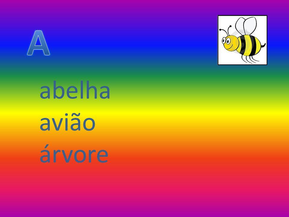 A abelha avião árvore