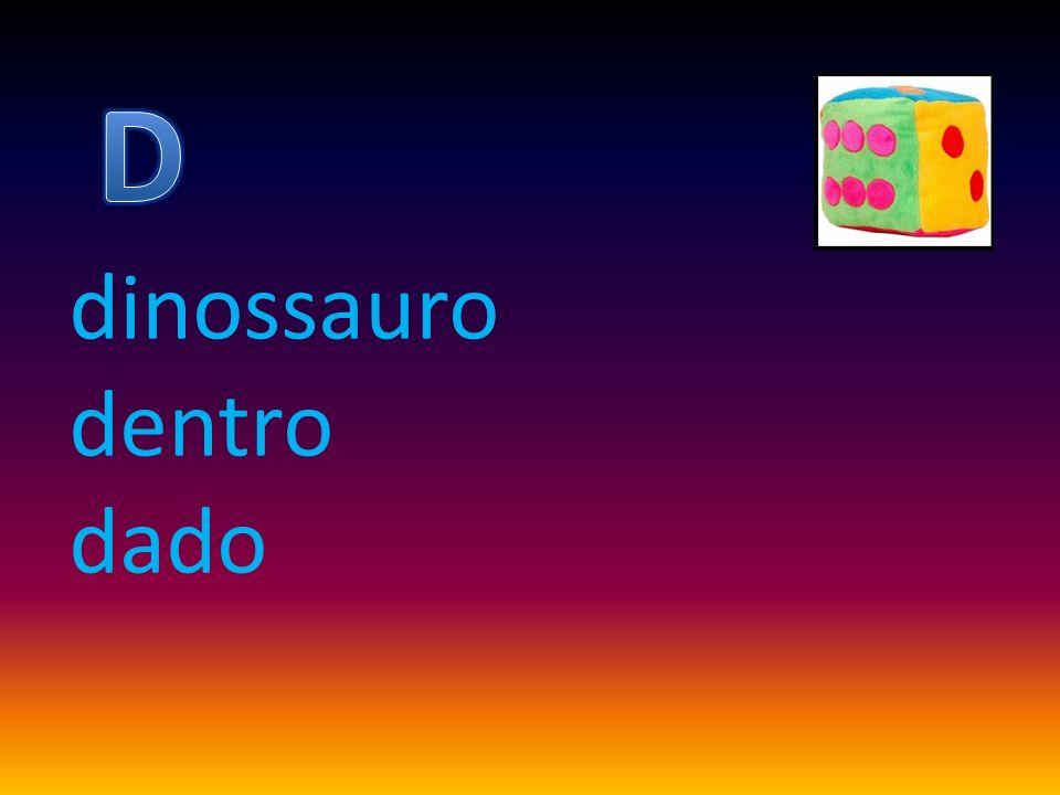 dinossauro dentro dado
