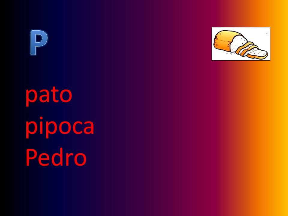 P pato pipoca Pedro