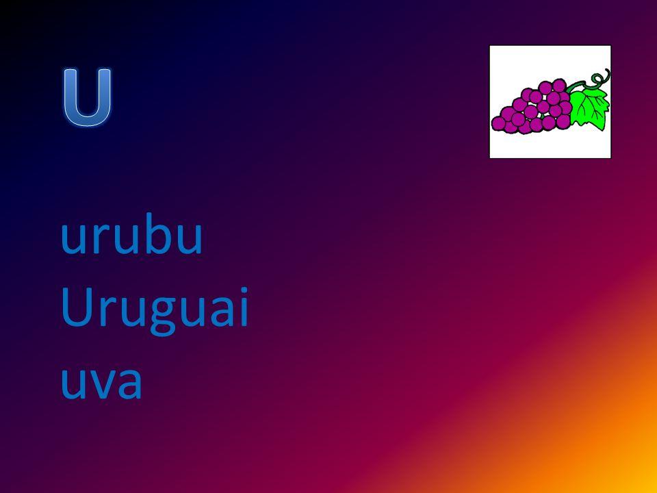 U urubu Uruguai uva
