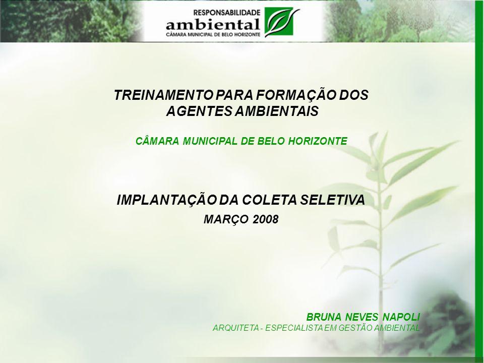 TREINAMENTO PARA FORMAÇÃO DOS AGENTES AMBIENTAIS