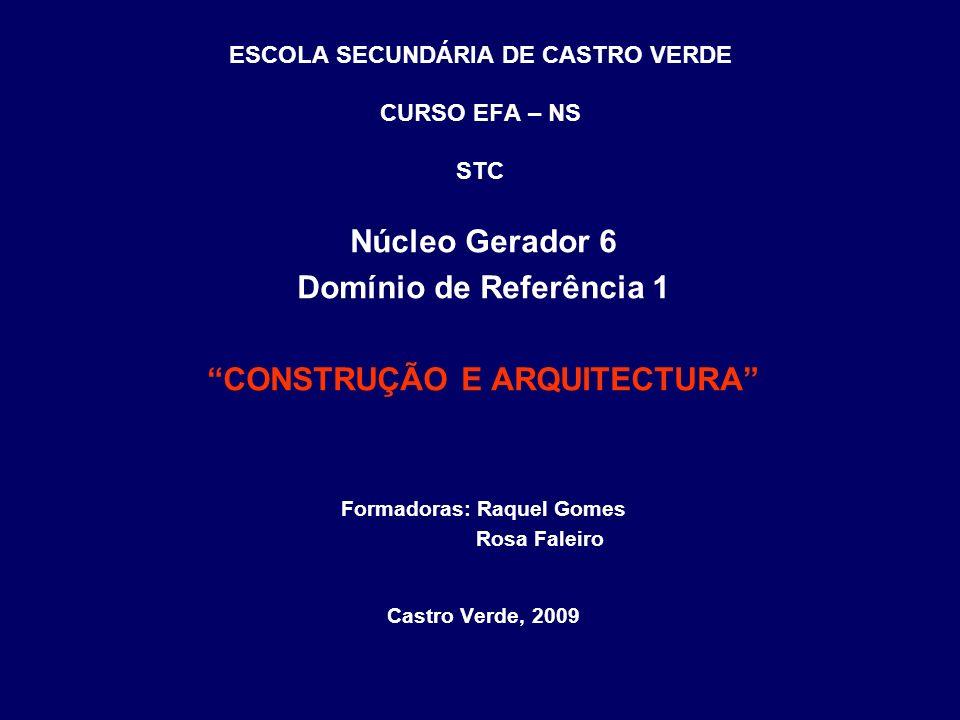 ESCOLA SECUNDÁRIA DE CASTRO VERDE CURSO EFA – NS STC