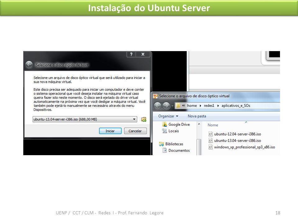 Instalação do Ubuntu Server