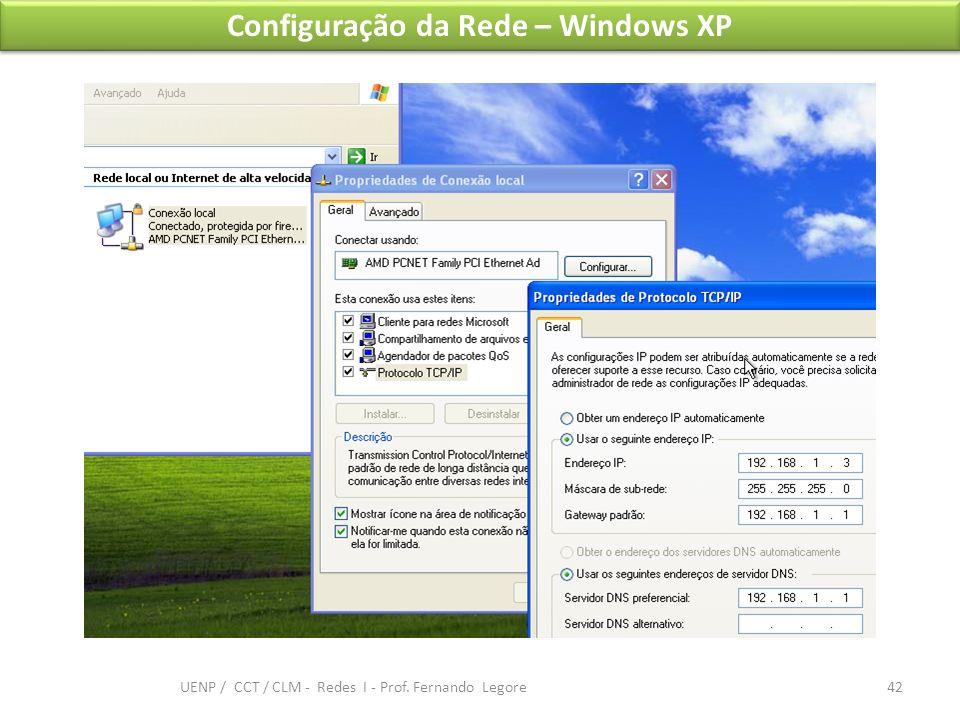 Configuração da Rede – Windows XP