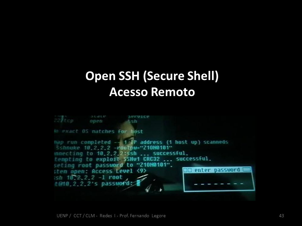 Open SSH (Secure Shell)