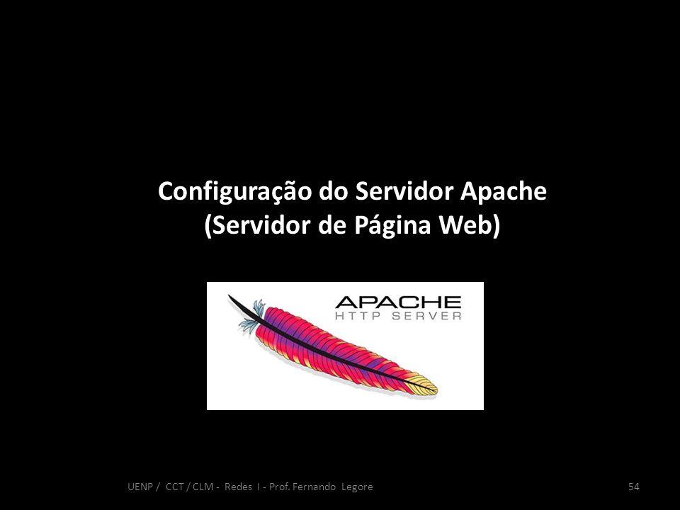 Configuração do Servidor Apache (Servidor de Página Web)