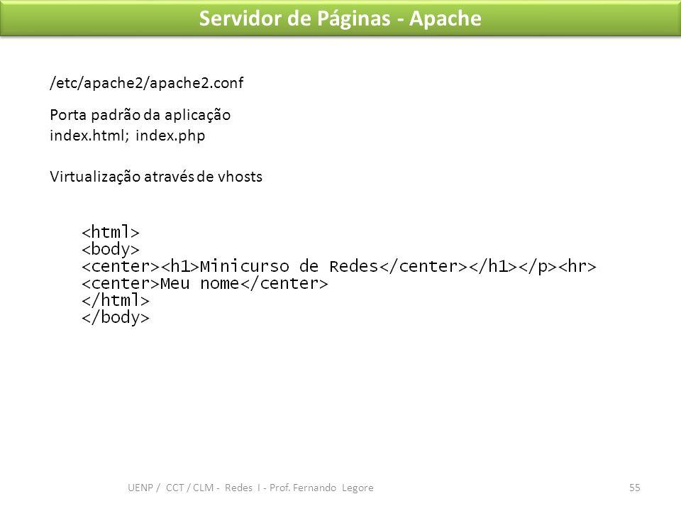 Servidor de Páginas - Apache