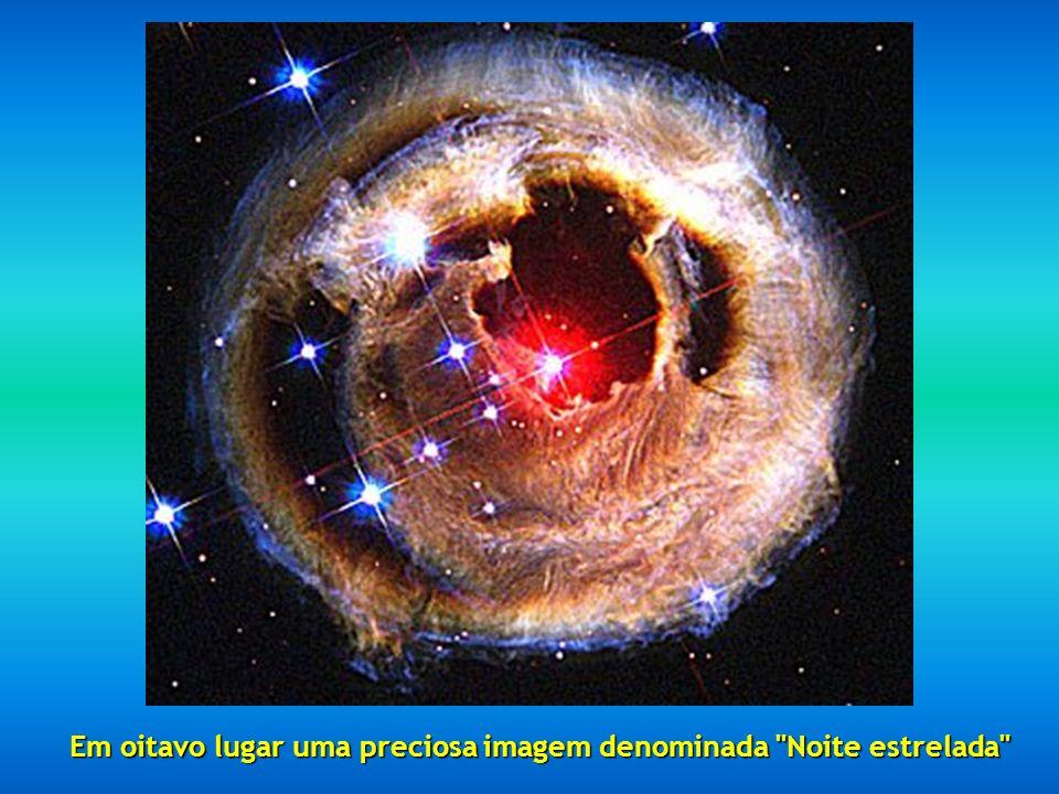 Em oitavo lugar uma preciosa imagem denominada Noite estrelada