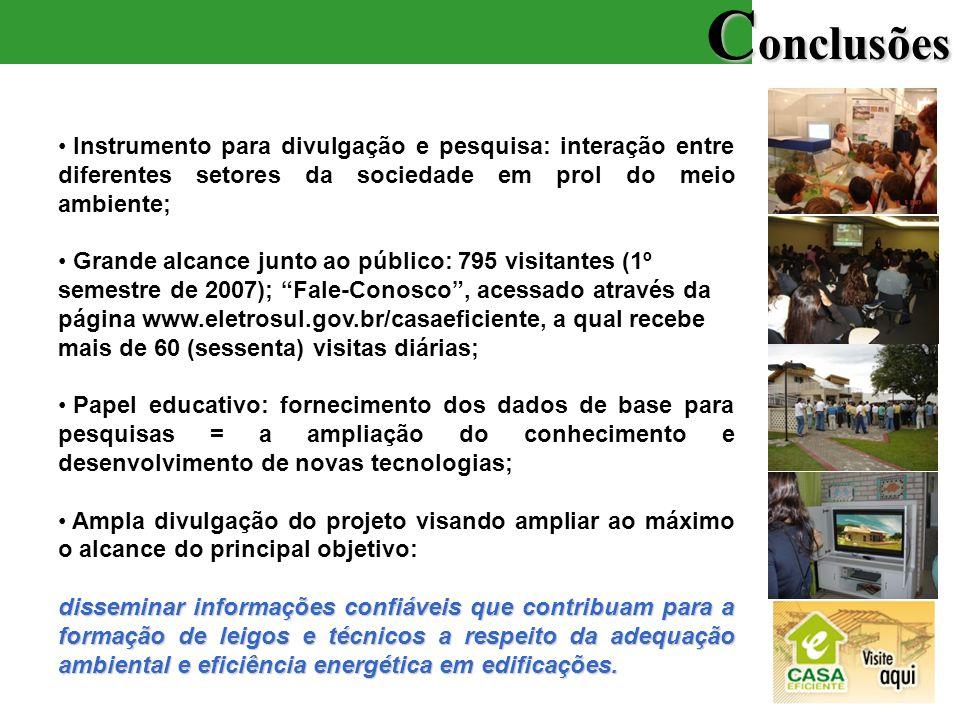Conclusões Instrumento para divulgação e pesquisa: interação entre diferentes setores da sociedade em prol do meio ambiente;