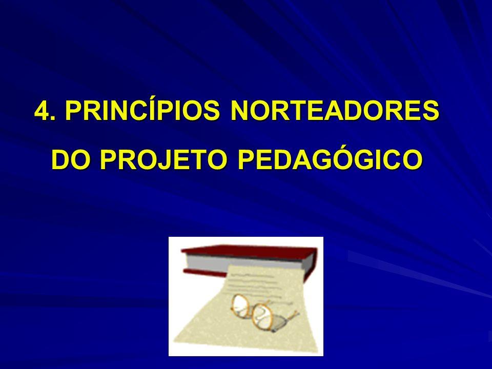 4. PRINCÍPIOS NORTEADORES DO PROJETO PEDAGÓGICO