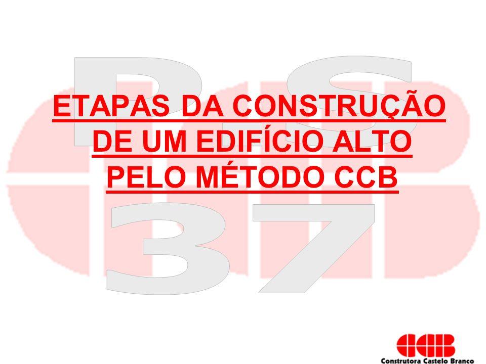 ETAPAS DA CONSTRUÇÃO DE UM EDIFÍCIO ALTO PELO MÉTODO CCB