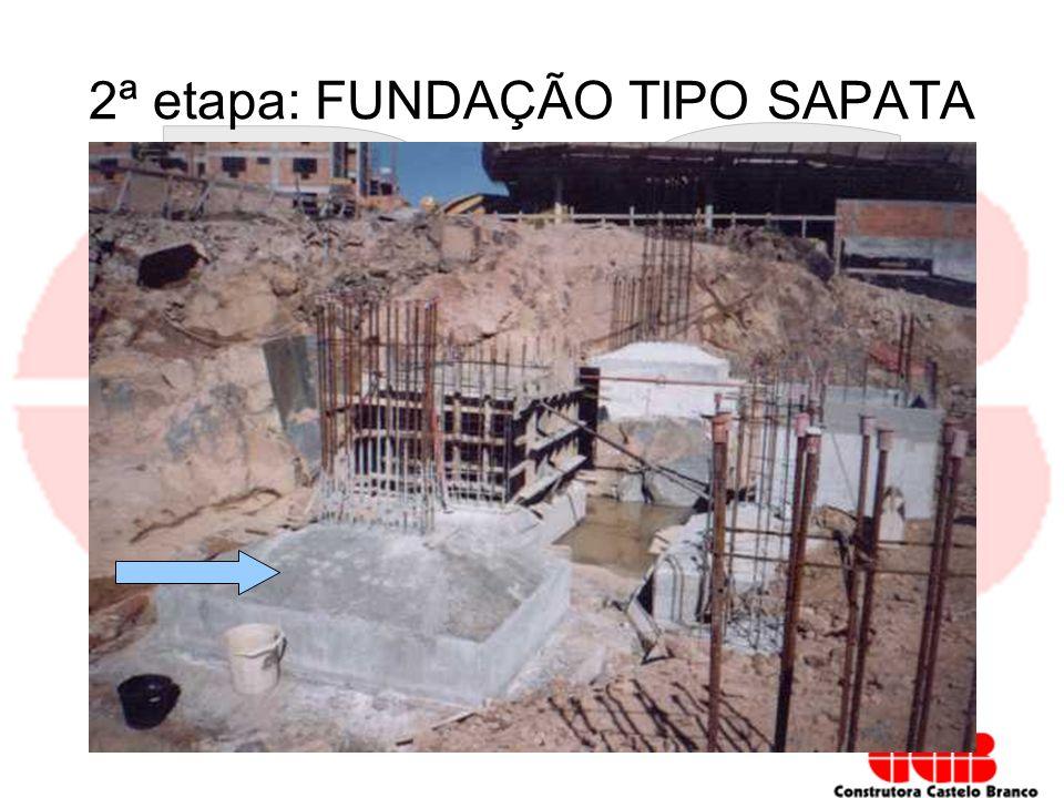 2ª etapa: FUNDAÇÃO TIPO SAPATA