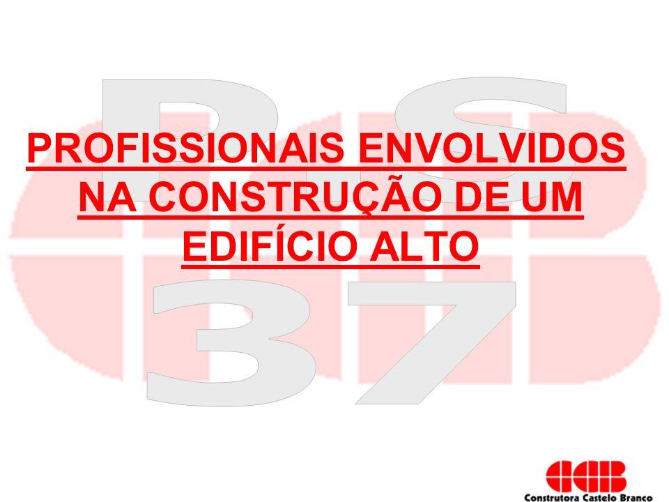 PROFISSIONAIS ENVOLVIDOS NA CONSTRUÇÃO DE UM EDIFÍCIO ALTO