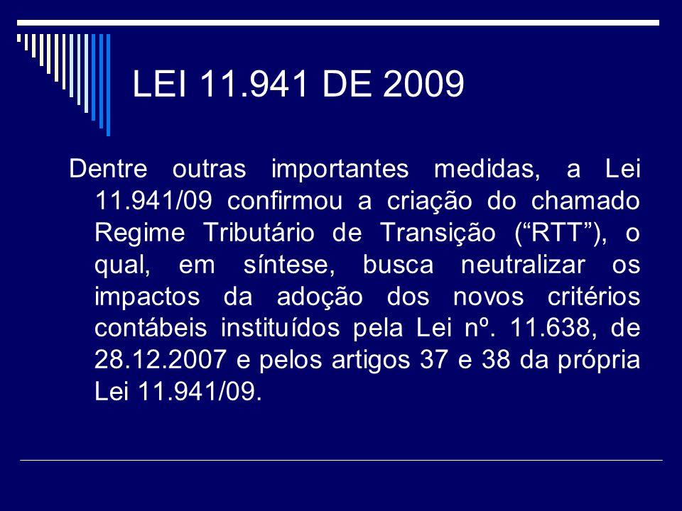 LEI 11.941 DE 2009