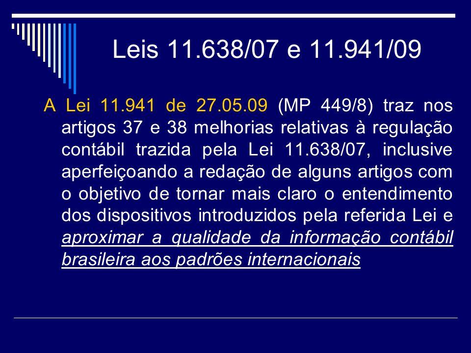 Leis 11.638/07 e 11.941/09