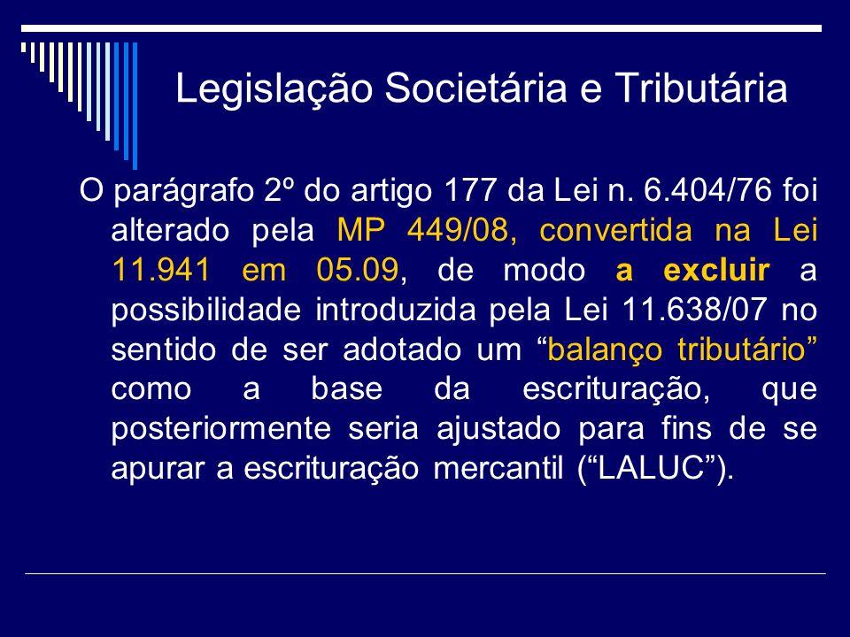 Legislação Societária e Tributária