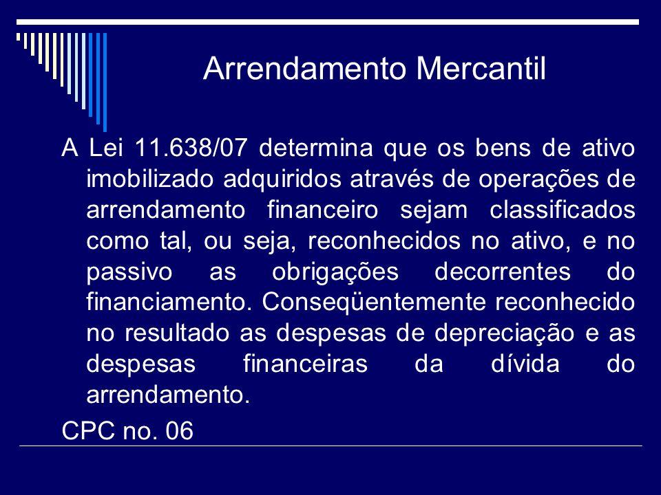 Arrendamento Mercantil