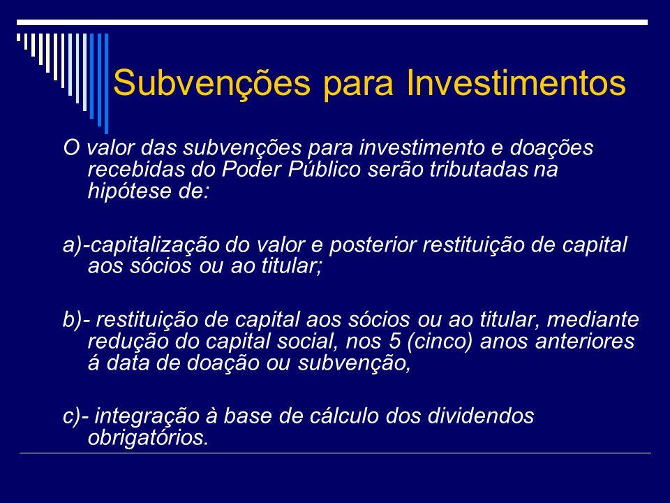 Subvenções para Investimentos