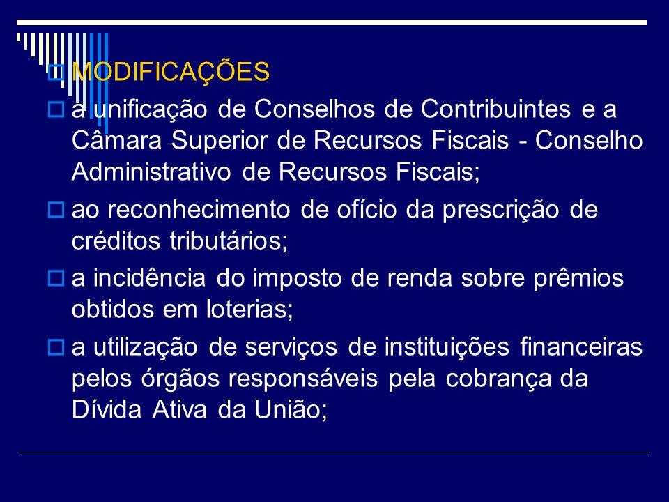 ao reconhecimento de ofício da prescrição de créditos tributários;