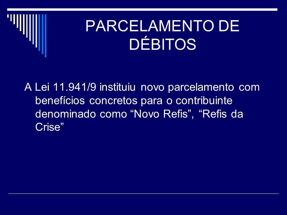 PARCELAMENTO DE DÉBITOS