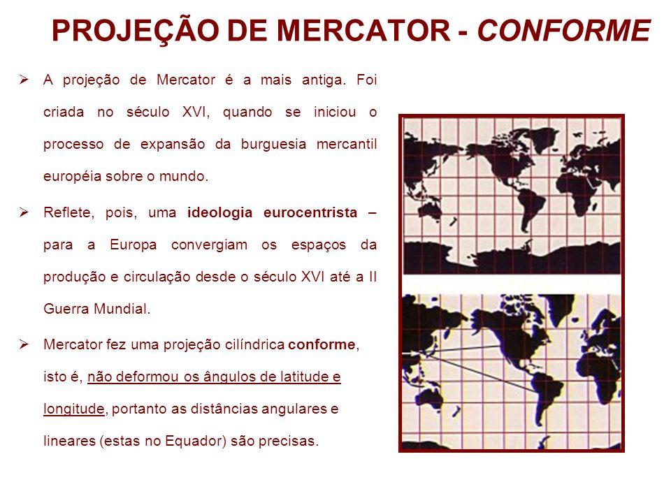 PROJEÇÃO DE MERCATOR - CONFORME