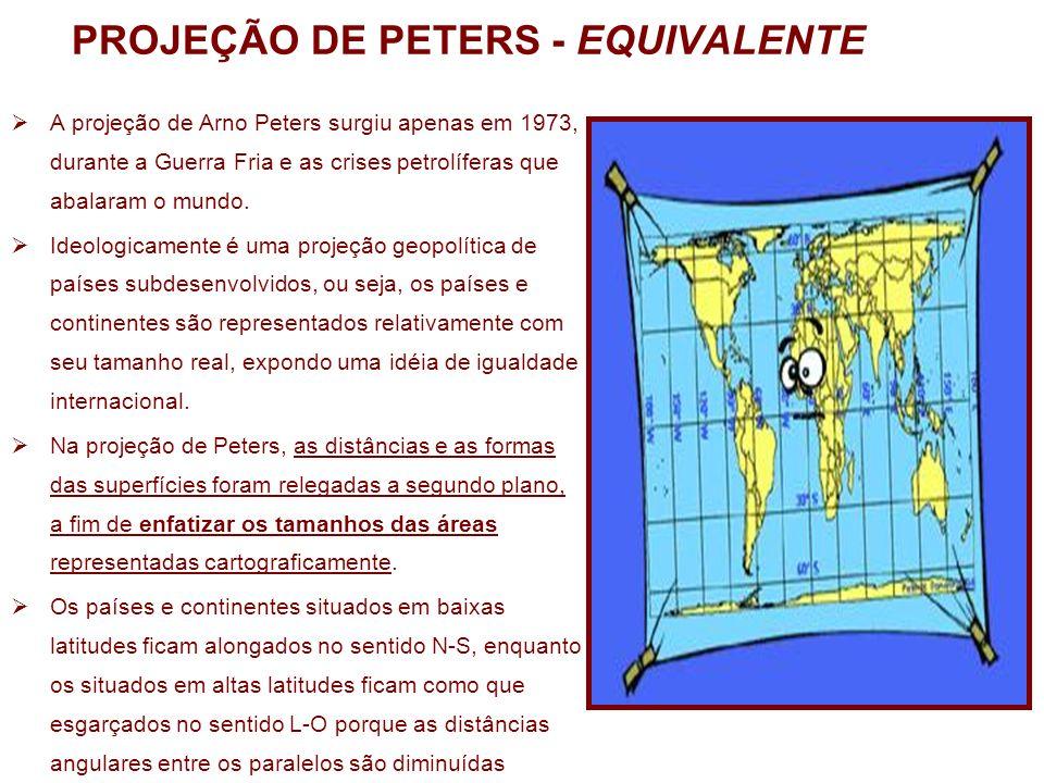 PROJEÇÃO DE PETERS - EQUIVALENTE