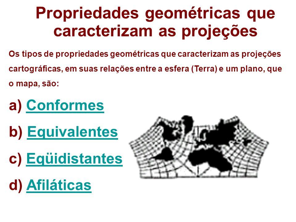 Propriedades geométricas que caracterizam as projeções