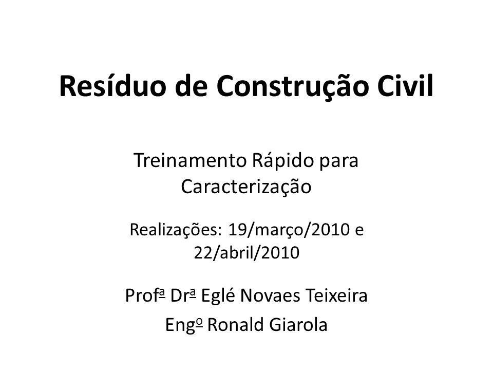 Resíduo de Construção Civil