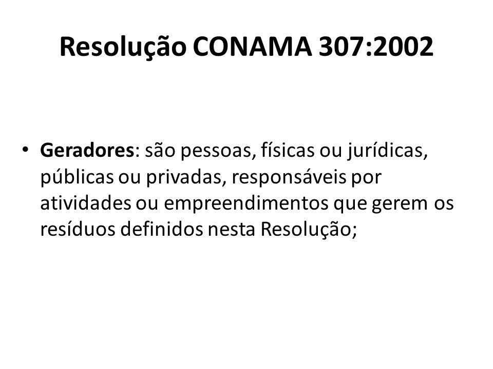 Resolução CONAMA 307:2002