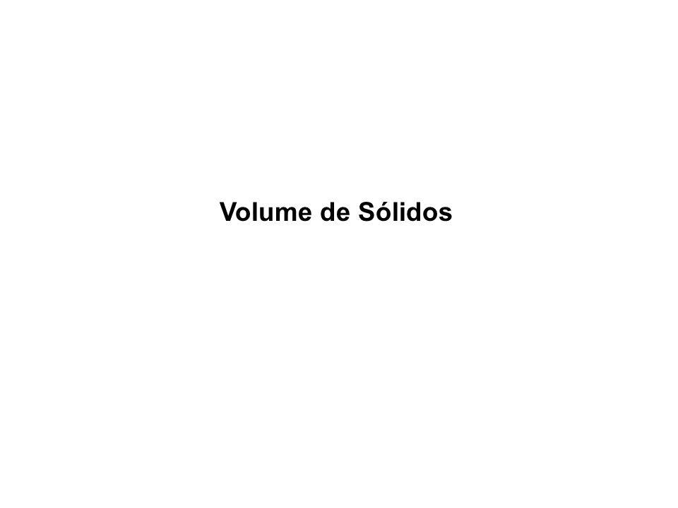 Volume de Sólidos