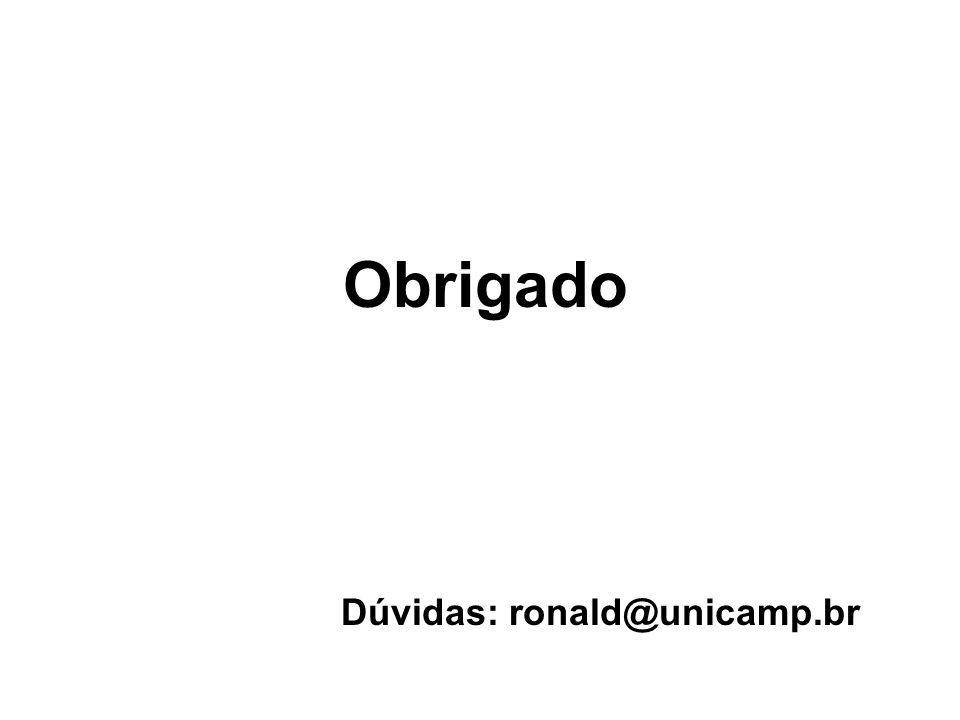 Dúvidas: ronald@unicamp.br