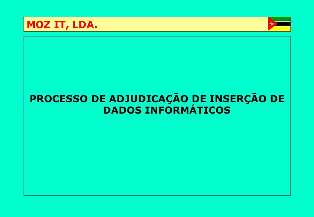 PROCESSO DE ADJUDICAÇÃO DE INSERÇÃO DE DADOS INFORMÁTICOS