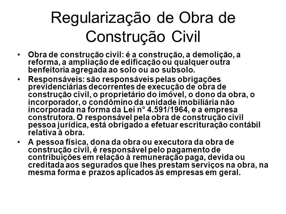 Regularização de Obra de Construção Civil