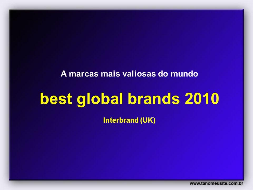 A marcas mais valiosas do mundo