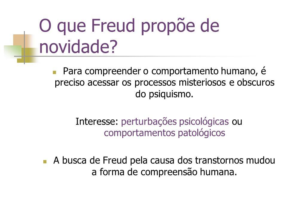 O que Freud propõe de novidade