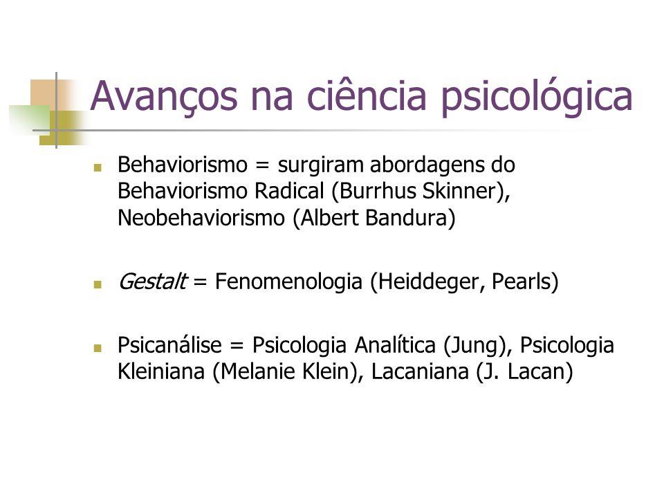 Avanços na ciência psicológica