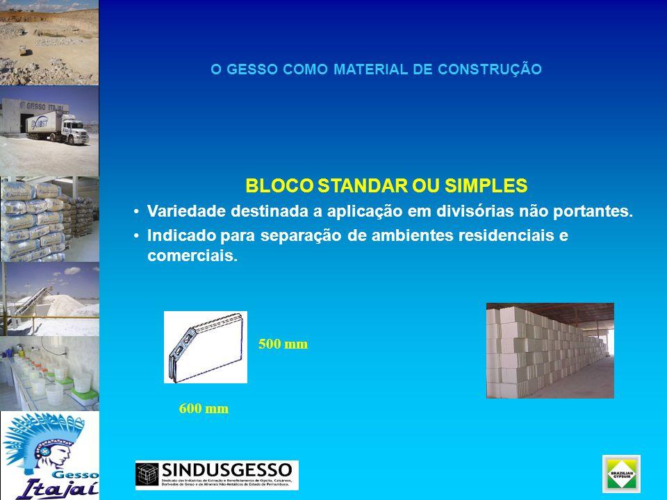 BLOCO STANDAR OU SIMPLES