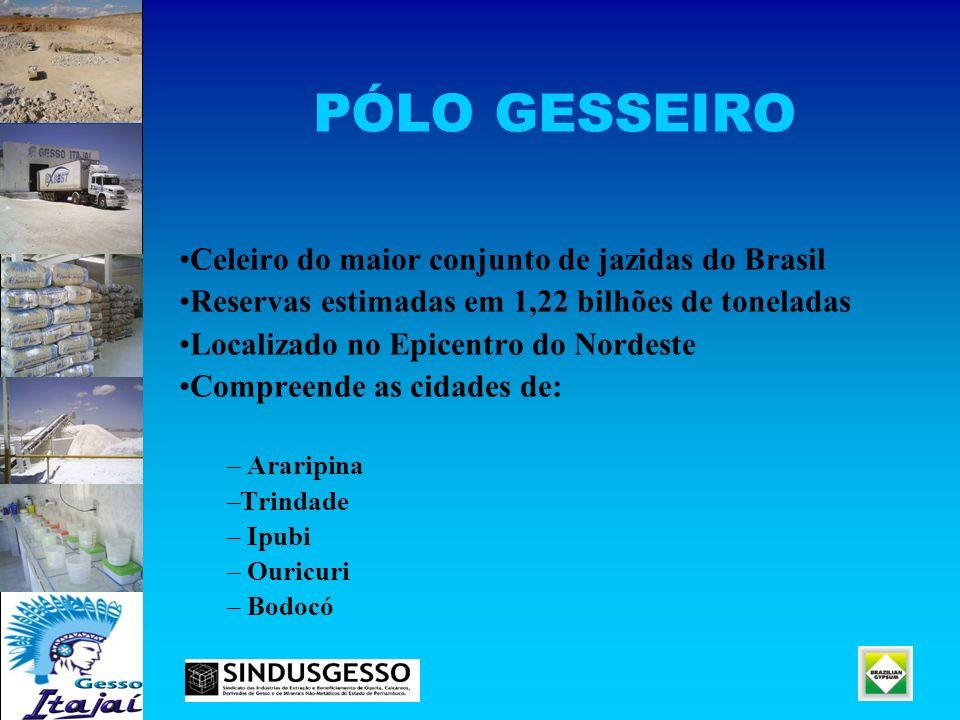 PÓLO GESSEIRO Celeiro do maior conjunto de jazidas do Brasil