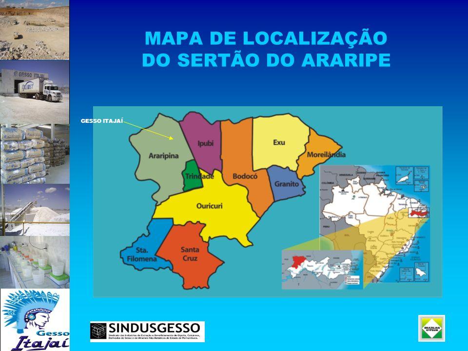 MAPA DE LOCALIZAÇÃO DO SERTÃO DO ARARIPE
