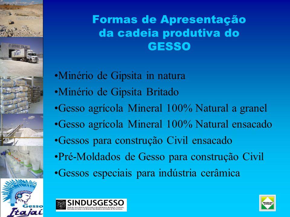 Formas de Apresentação da cadeia produtiva do GESSO