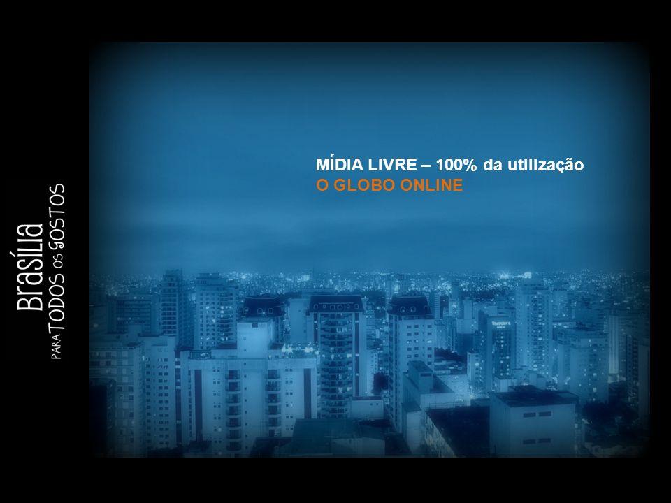 MÍDIA LIVRE – 100% da utilização