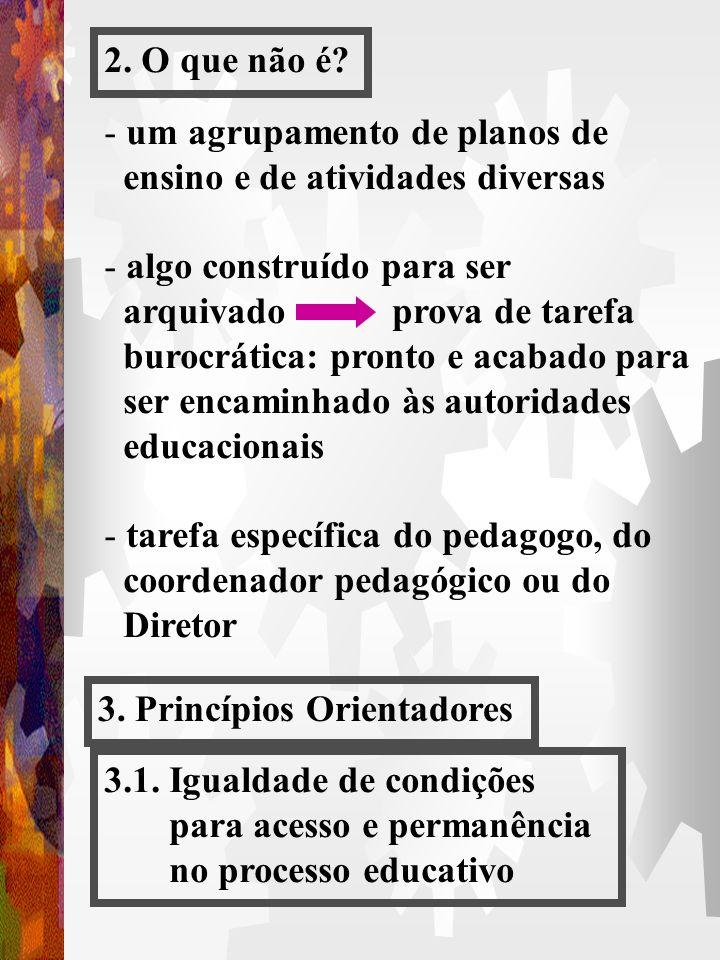 2. O que não é um agrupamento de planos de. ensino e de atividades diversas. algo construído para ser.