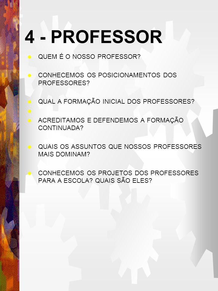 4 - PROFESSOR QUEM É O NOSSO PROFESSOR