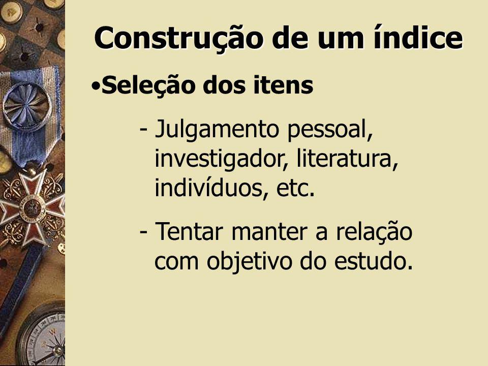 Construção de um índice