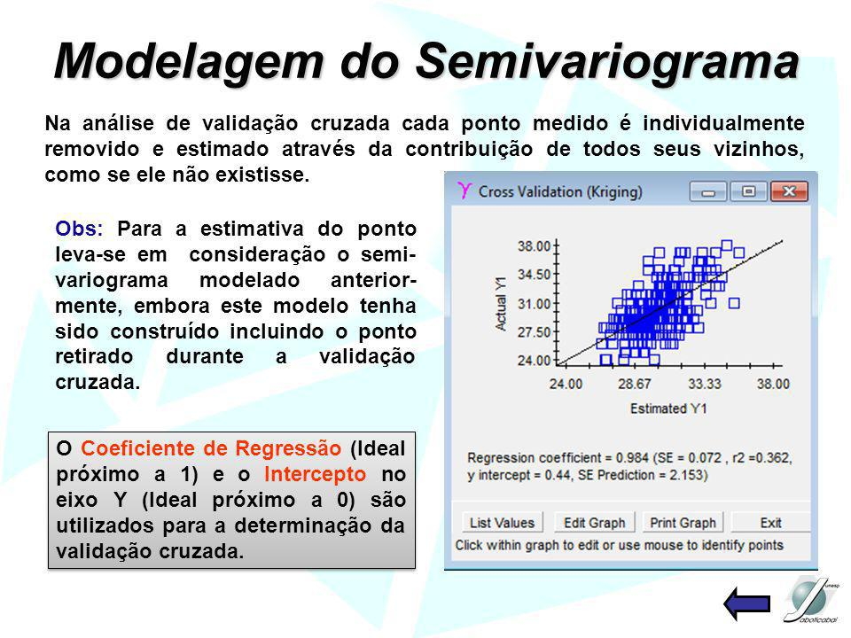 Modelagem do Semivariograma