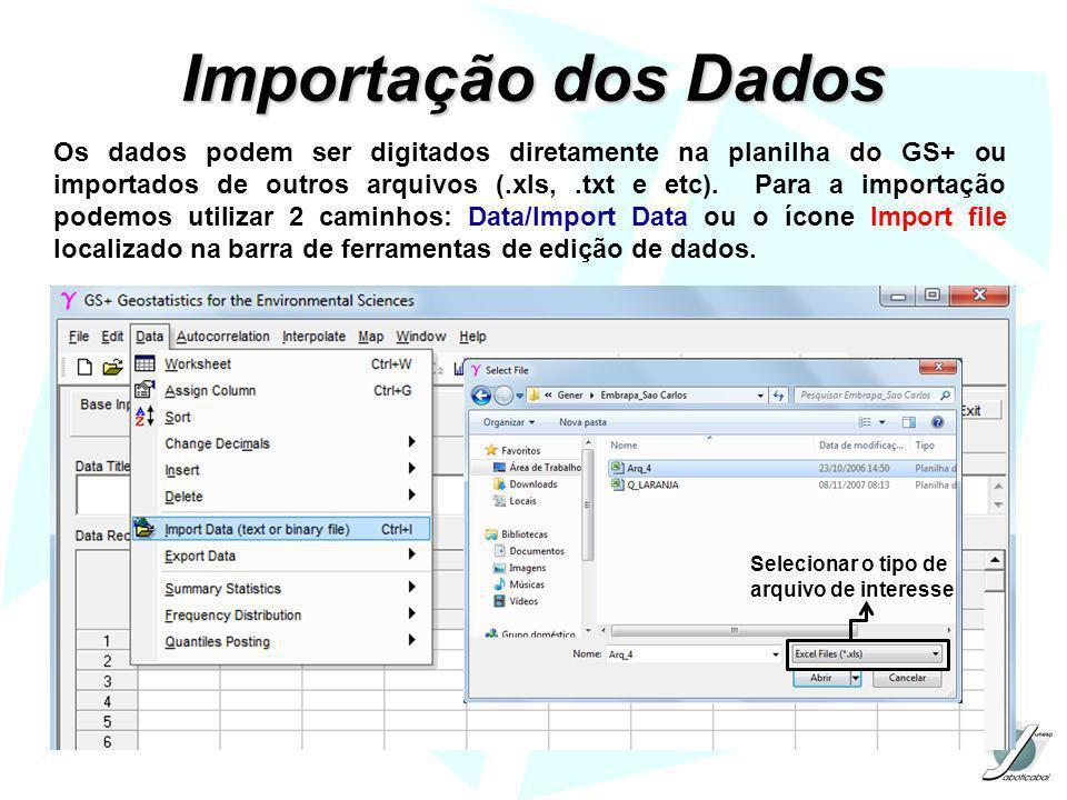 Importação dos Dados