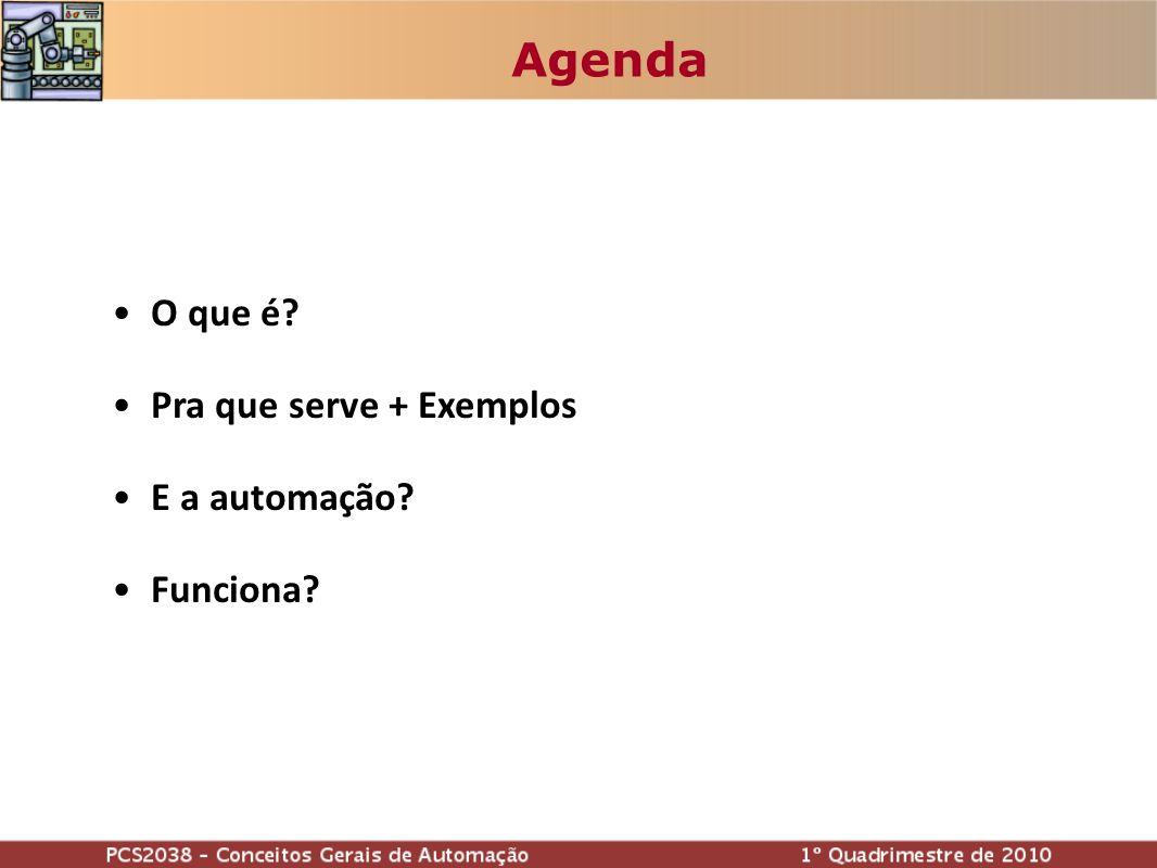 Agenda O que é Pra que serve + Exemplos E a automação Funciona