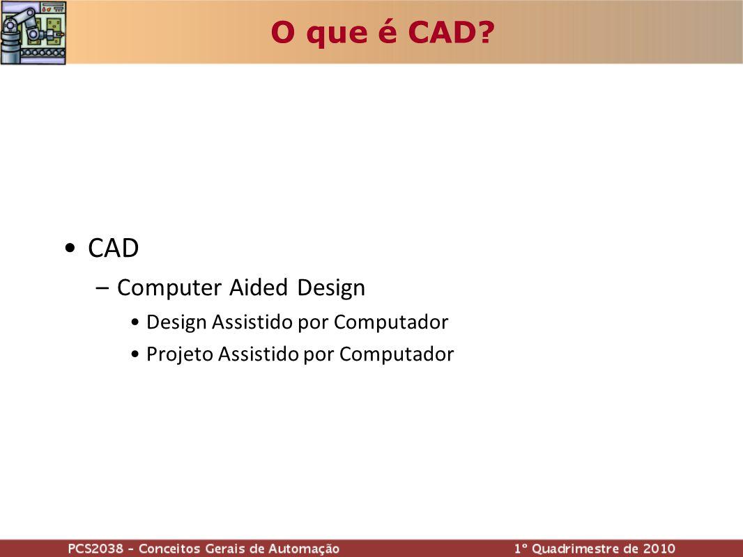 O que é CAD CAD Computer Aided Design Design Assistido por Computador